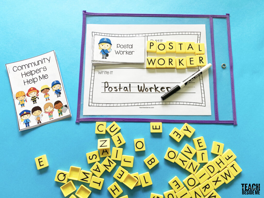 postal worker community helper read build write