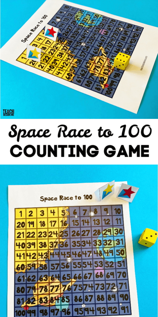 space race to 100 counting game
