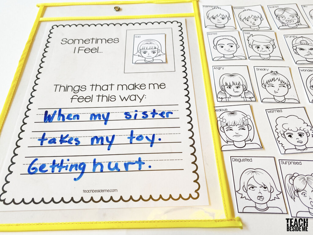 emotion writing prompt for kids