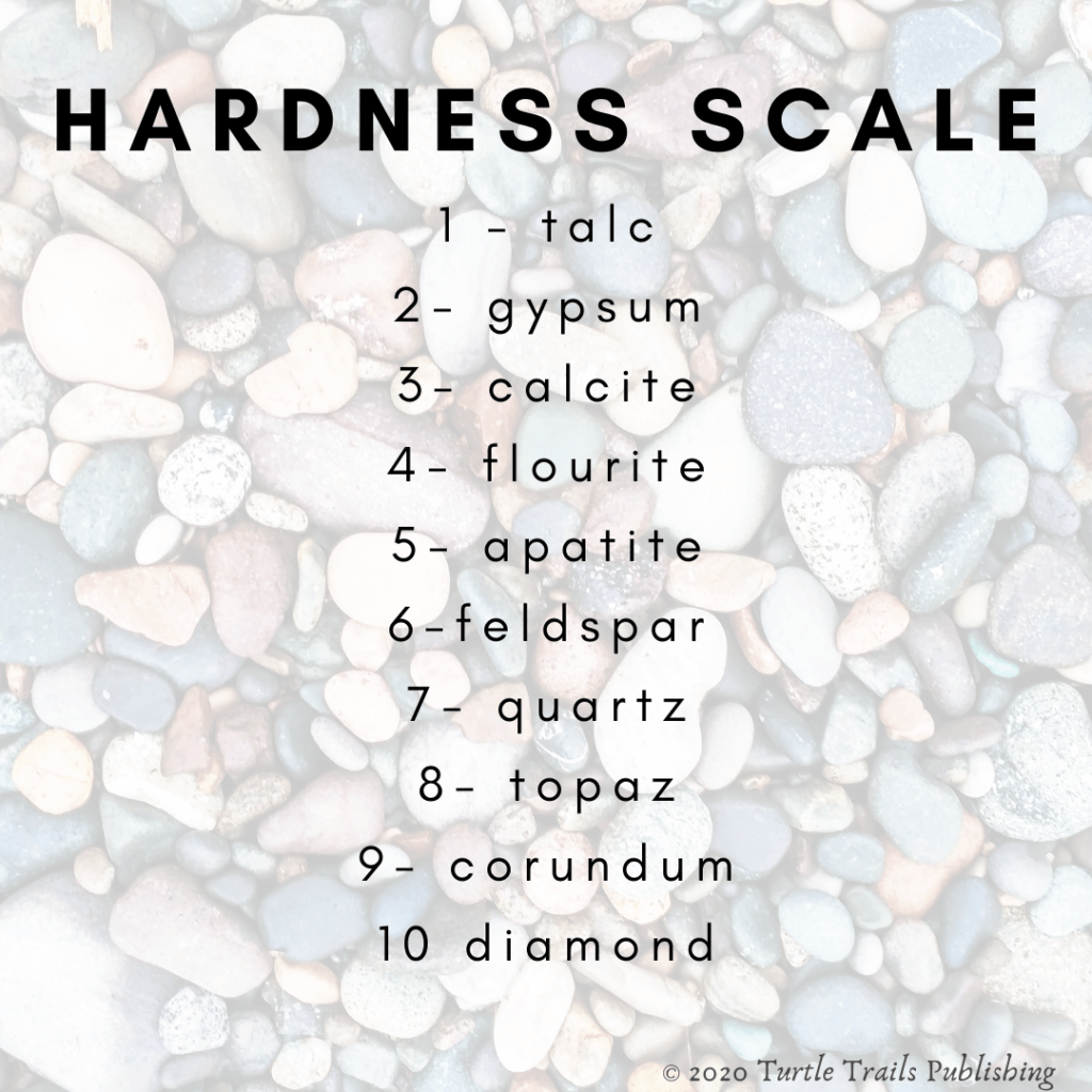 Rock identification hardness scale