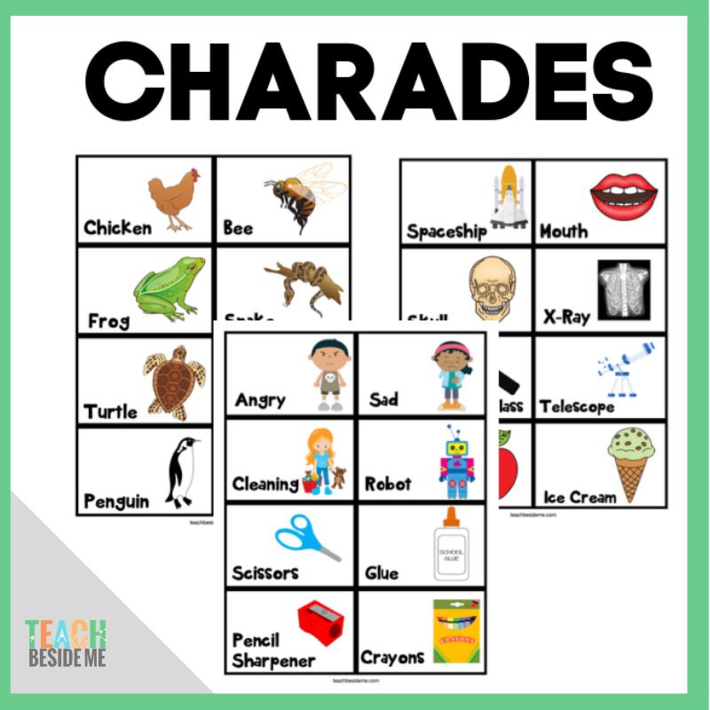 96 Printable Charades Ideas for Kids - Teach Beside Me