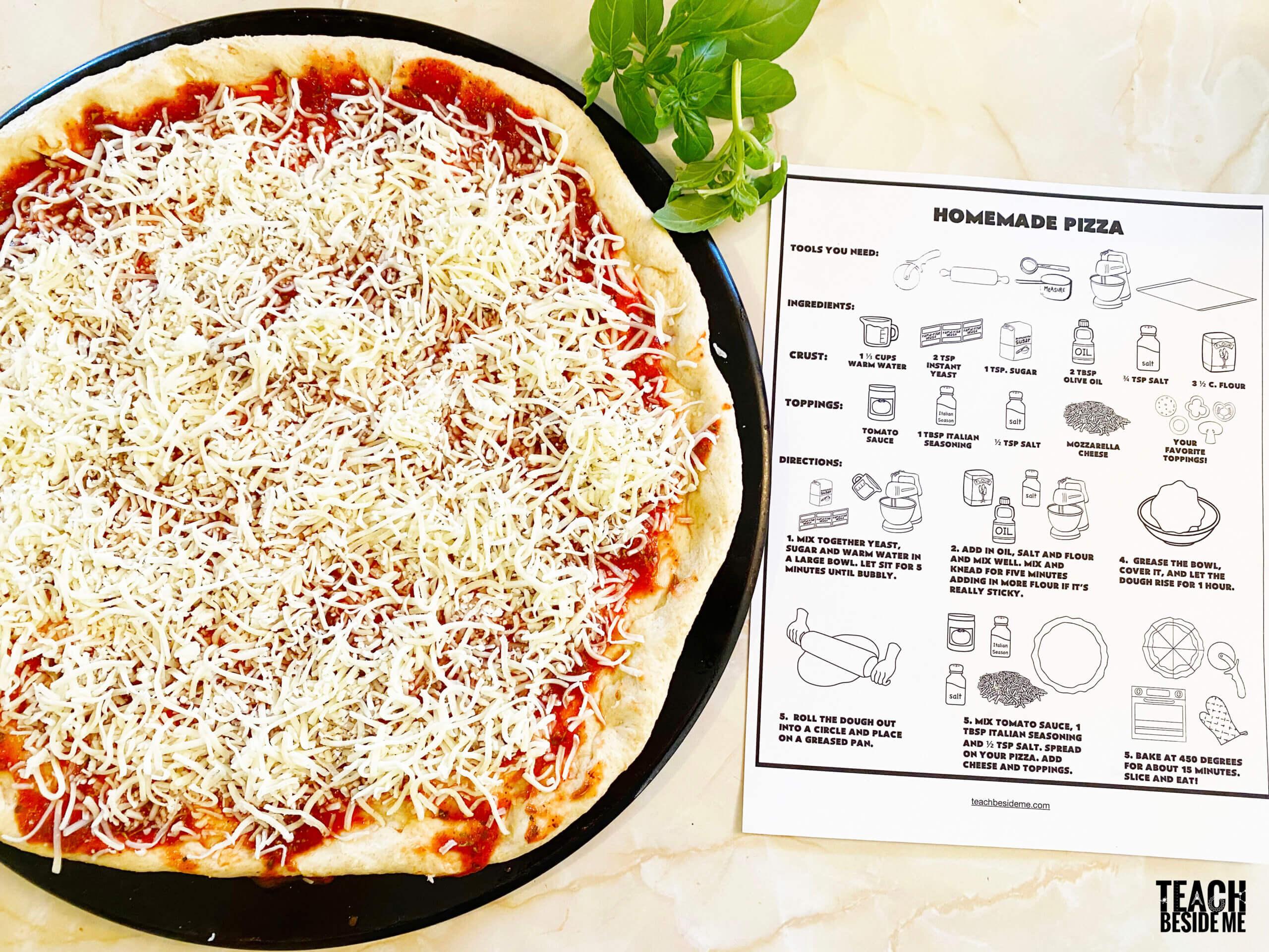 homemade pizza for kids