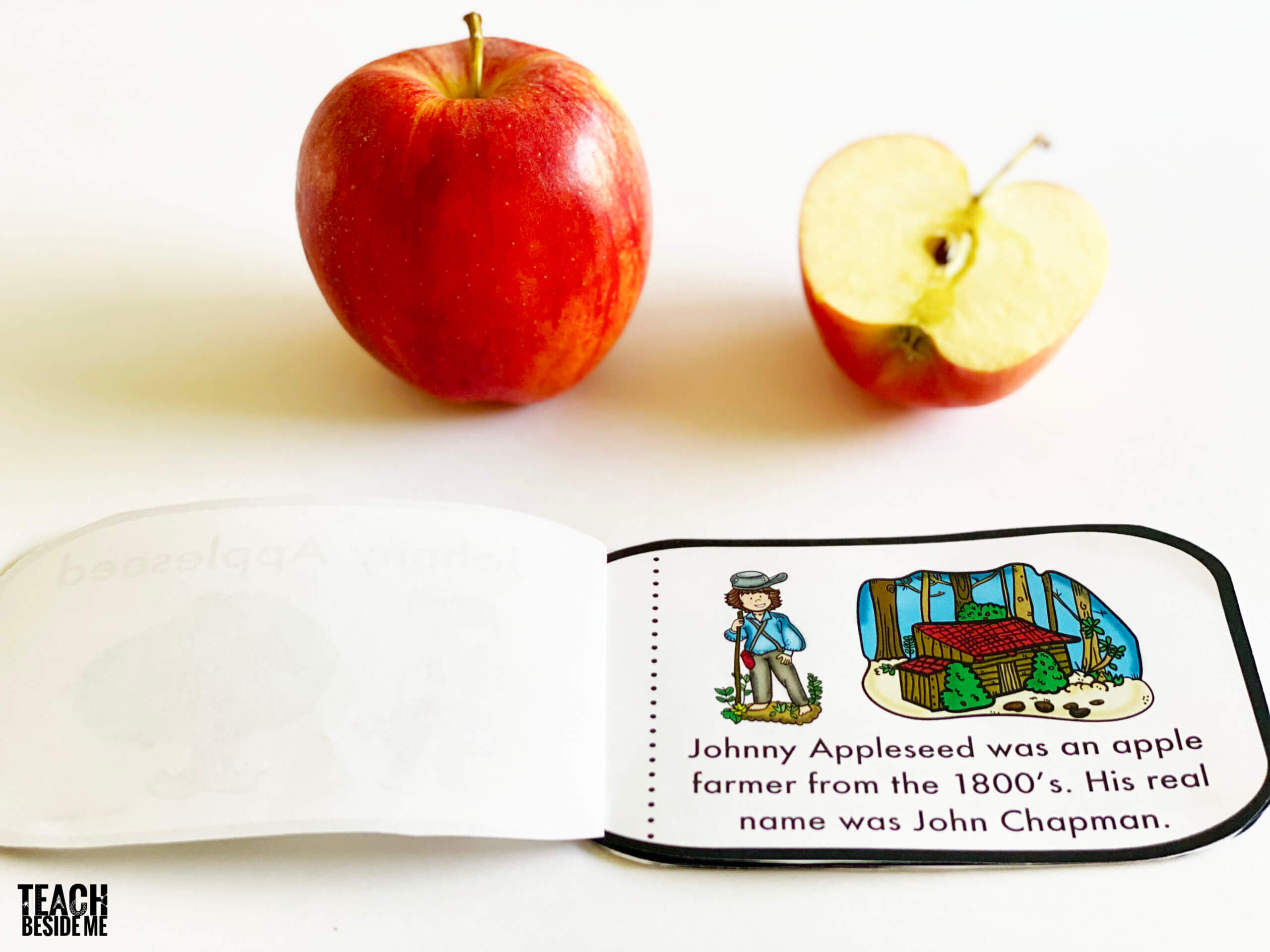 johnny appleseed mini book for kids