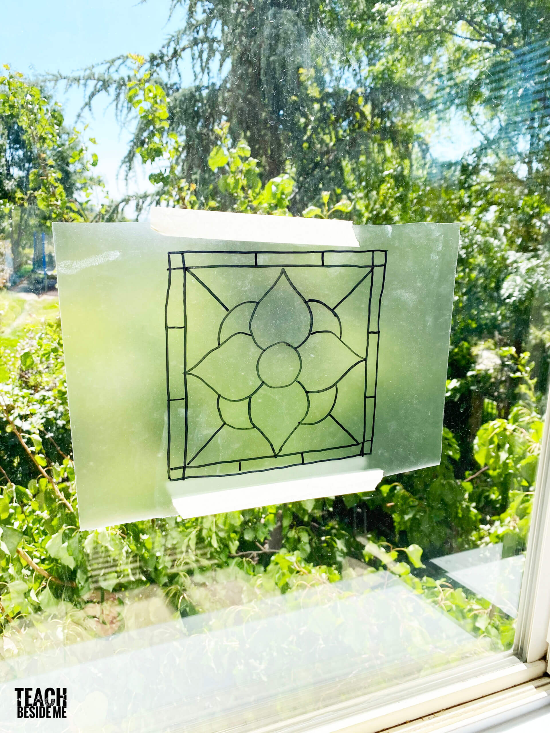 stained glass craft with contact paper