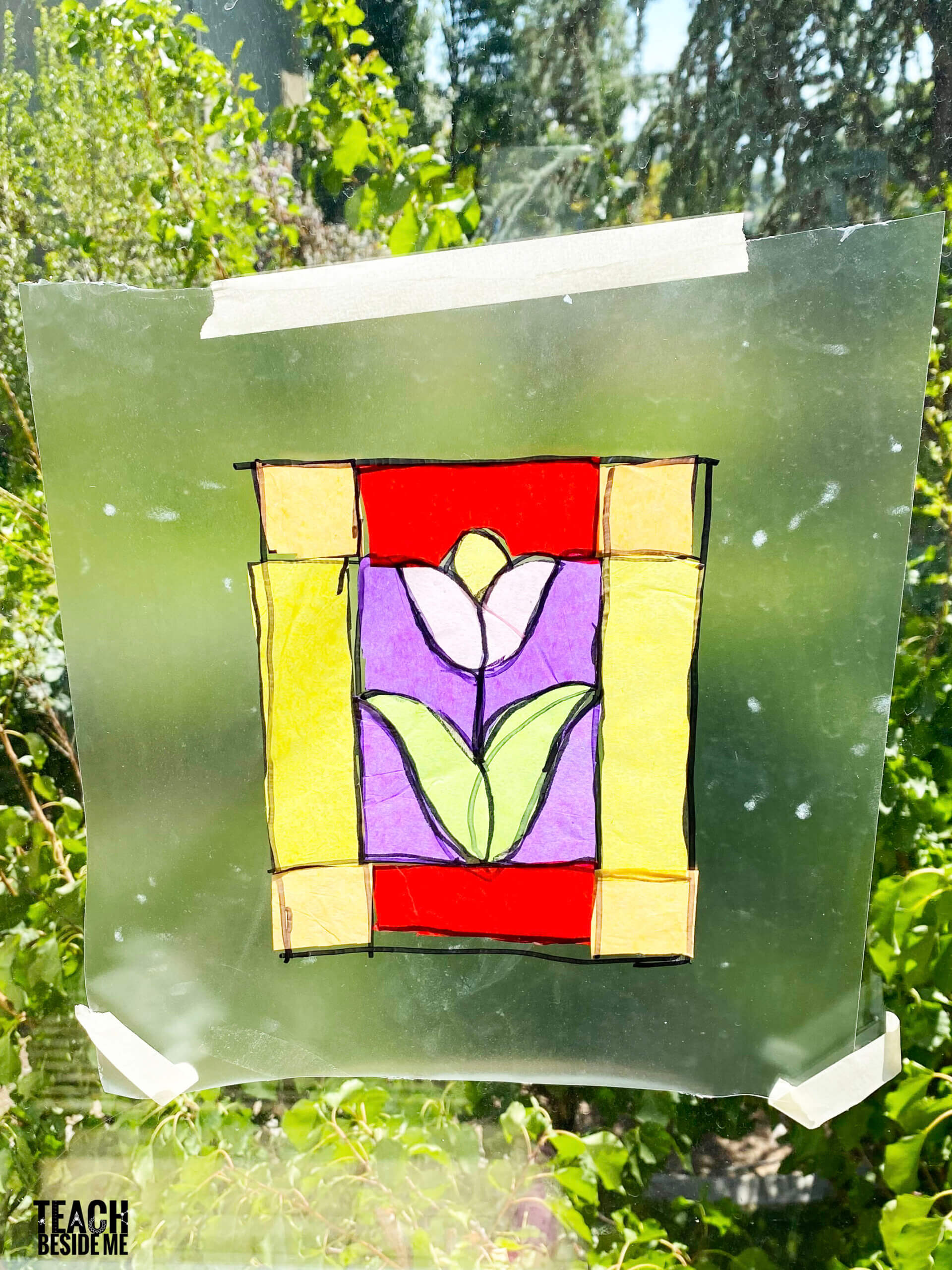stained glass craft with kids