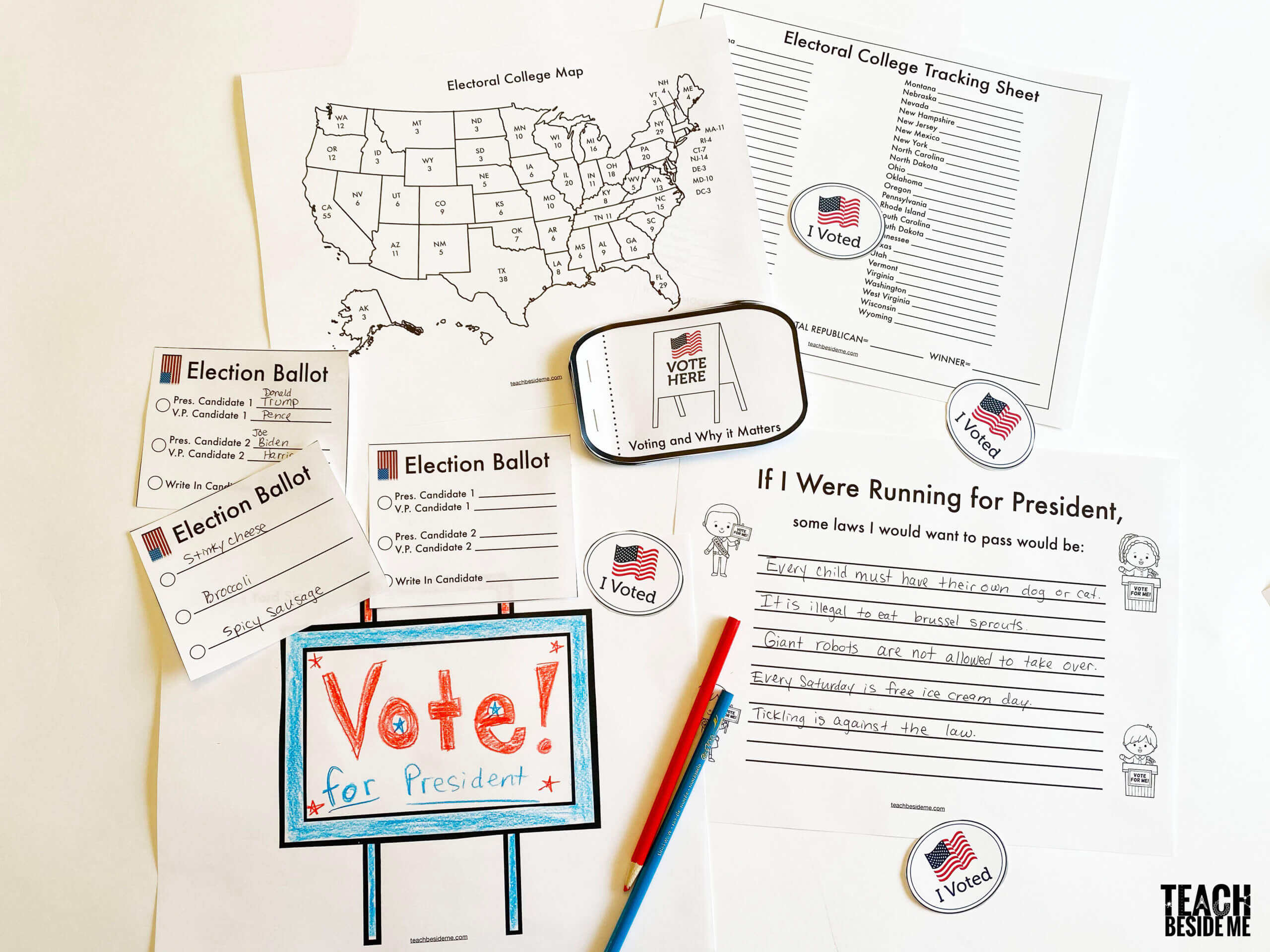 presidential election voting lesson for kids