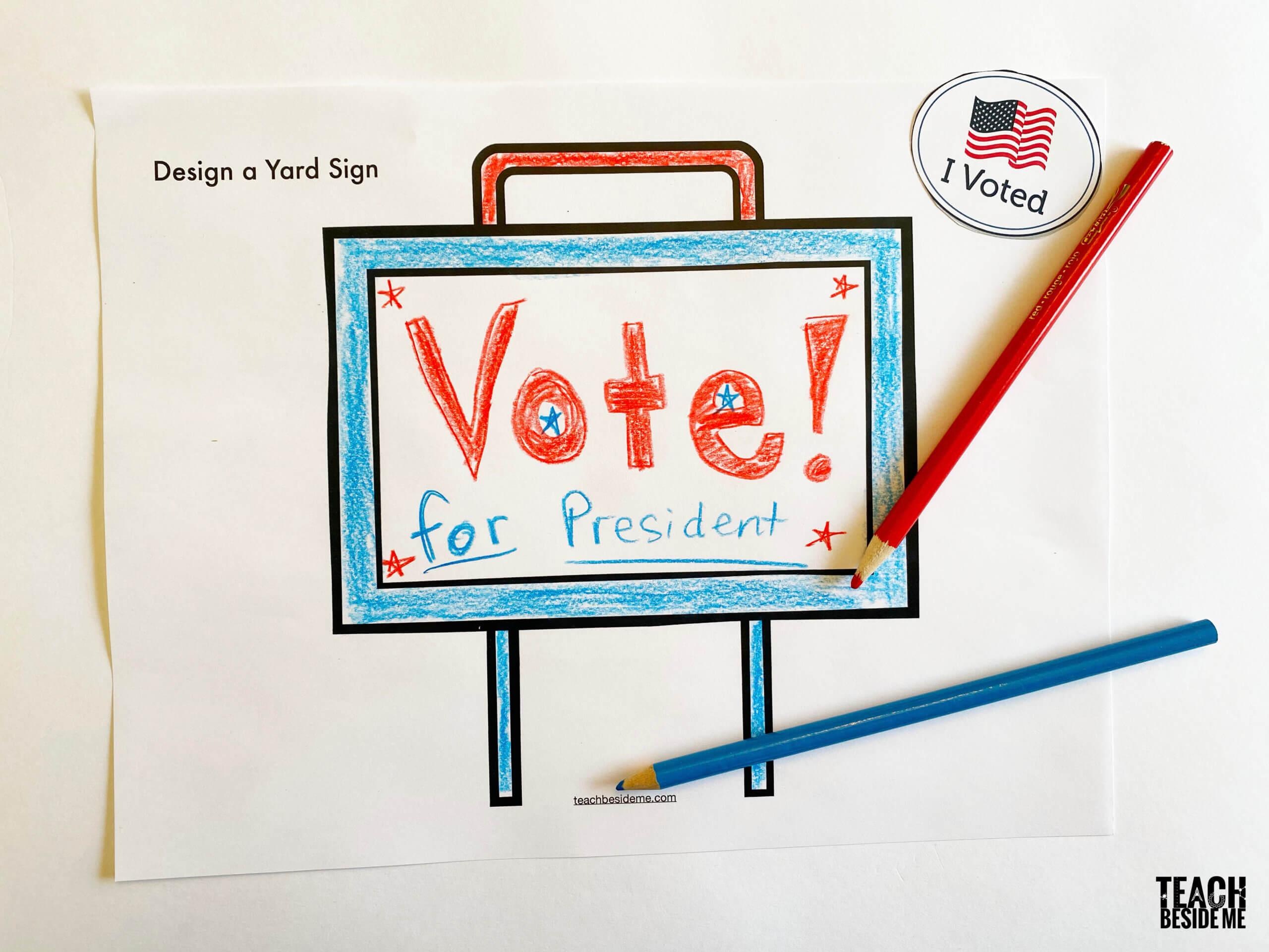vote president yard sign