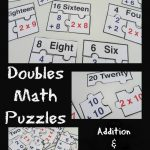 Doubles Math Puzzle Printable