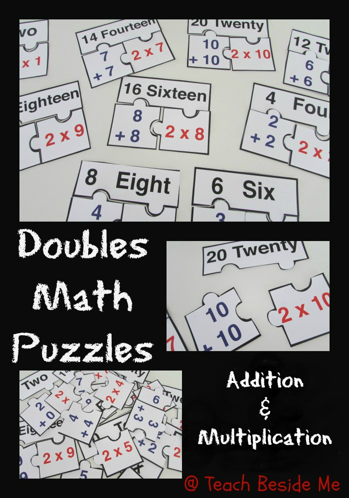 photograph about Printable Maths Games and Puzzles referred to as Doubles Math Puzzle Printable Train Beside Me