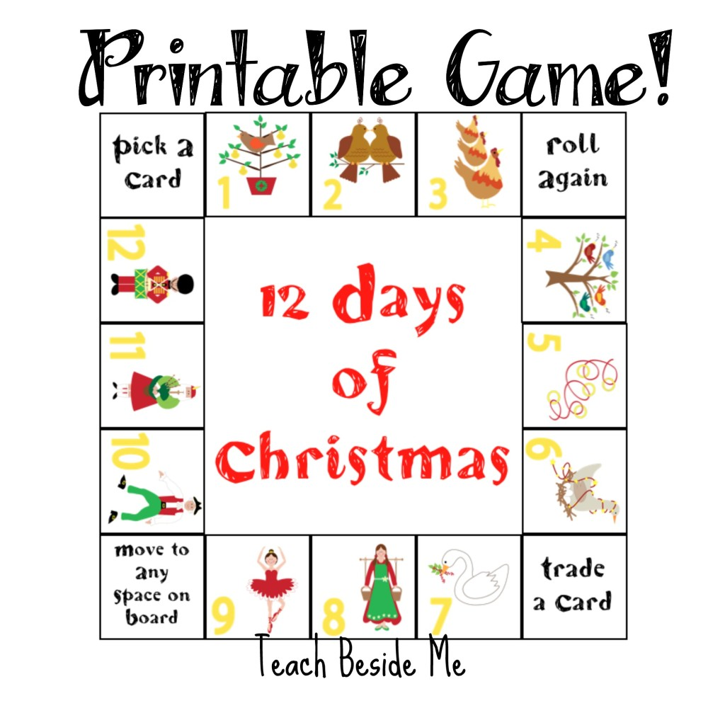 graphic relating to 12 Days of Christmas Printable titled 12 Times of Xmas Printable Video game Train Beside Me