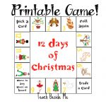 12 Days of Christmas Printable Game